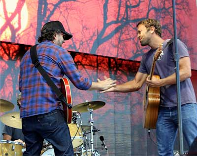 jam with my friend Jack Johnson at Willy Nelson's Farm Aid